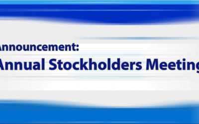 Announcement: Annual Stockholders Meeting 2020